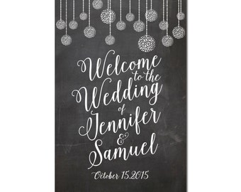 Printable Chalkboard Wedding Sign, Chalkboard Welcome Wedding Sign, Chalkboard Wedding Sign, Reception Sign #CL125