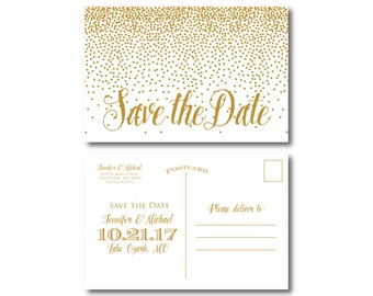 PRINTABLE Save the Date Postcard, Printable Save the Date, Wedding Save the Date, Save-the-Date, Wedding Postcard, Save our Date #CL116