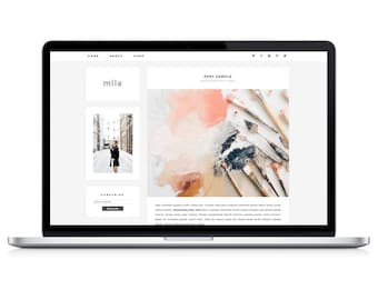 Wordpress Theme - Mila - Responsive Wordpress Blog Design - Wordpress Template - Wordpress Theme Feminime - Wordpress Theme Modern