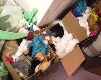 One Plastic Bag Full Of Fur Scraps Or Foam For Fursuit Making