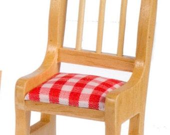 DOLLHOUSE MINIATURE Oak Kitchen Table And Chairs #M1881-M1882-M2009-M2010-M2011