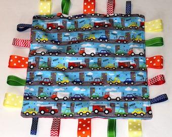Cars and Trucks Teether (Sensory) Blanket