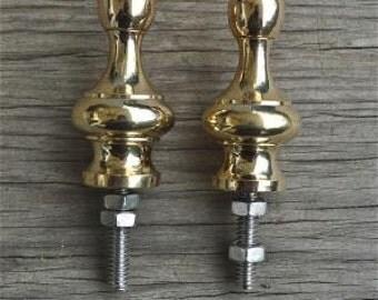 A pair of superb quality antique brass furniture clock finials Z15