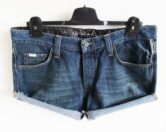 Vintage • Vans • Jeans • Shorts • Denim Shorts • Short Pants • Denim Short Trousers • Blue Shorts • Denim Short Pants • Size 34 • New • Mod