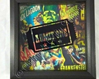 Admit One Horror Movie Ticket Stub Shadow Box