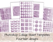 Photoshop Template PSD Pack for Digital Collage Sheet Creation 0300