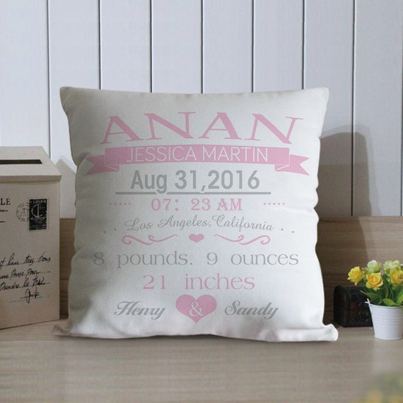 Personalized Baby Pillow Baby Birth Stat Pillows By