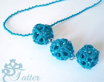 "Tatting Pattern ""3D Icosahedron Necklace"""