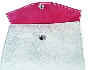Bridal bag white / pink