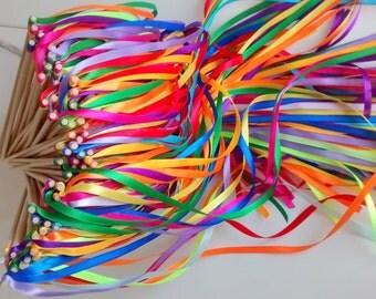 Chopsticks wedding theme Bohemian Chic ribbons