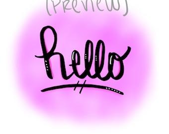 Hello (printable)