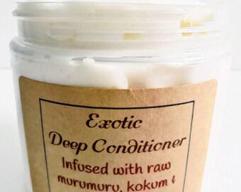 Exotic Deep Conditioner *Rich & Creamy w/ Murumuru, Illipe, Kokum Butter *4 in 1 for Healthy Hair  Growth 8oz.