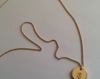 S Letter Gold Plated Filled Necklace
