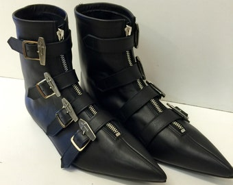 Original Pikes-Coffin Buckle Boots