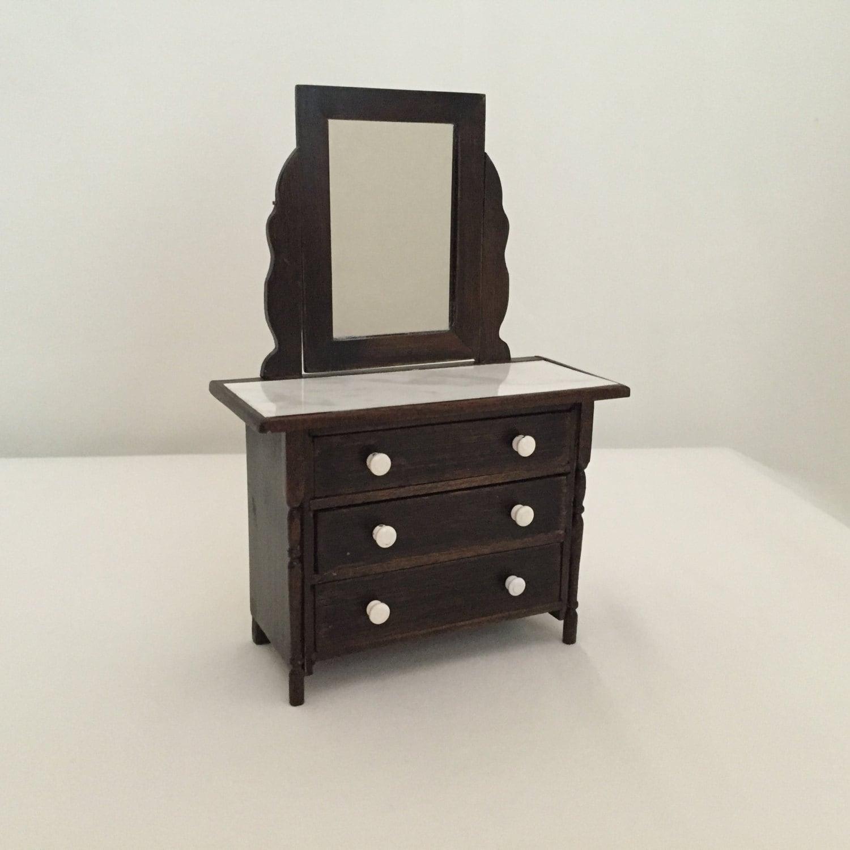 Dollhouse Miniature Bedroom Furniture Handmade Dresser