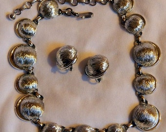 SALE Beautiful Vintage Silver Coro Demi Parure - Necklace and Earrings