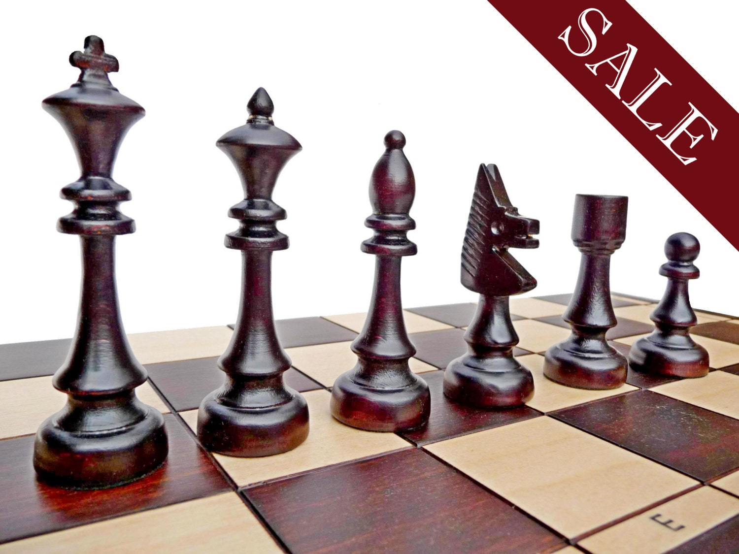 Stylish Wooden Chess Set Hand Crafted 48x48cm By Stylishchess