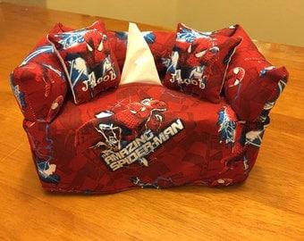 Spiderman Couch / Sofa Tissue Box Cover