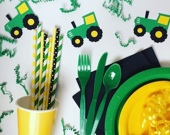 Tractor Themed Tableware Set / Tractor Birthday Party