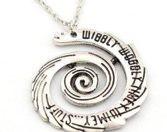 Dr Who Timey Wimey Spiral Pendant Necklace