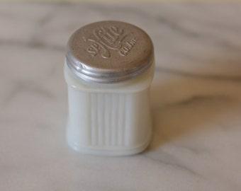 antique milk glass medicine jar