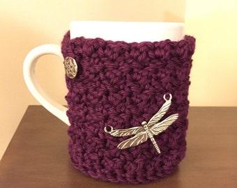 Dragonfly Cozy Mug Sweater | Coffee | Tea | Cocoa | Cider