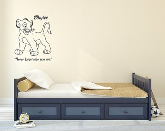 Never forget who you are with Lion Cub. Wall decal