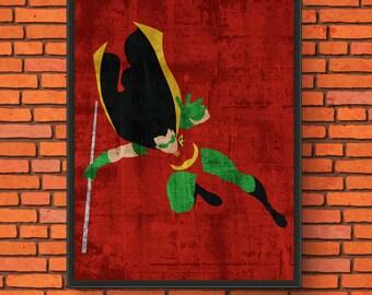 DC Heroes Minimalism - Robin Semi-Gloss Print