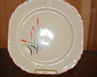 """Universal Potteries Cattail Plate 9 3/4"""""""