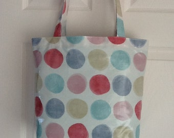 Oilcloth tote bag/shopper/lunch bag