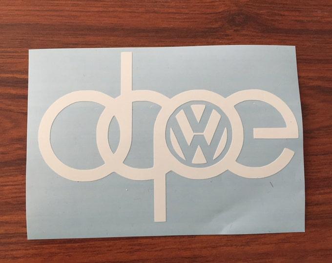 Dope Decal Audi Volkswagen GTI Oracal