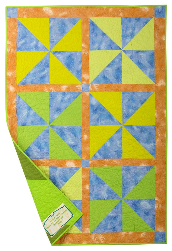 Forest floor baby quilt for Floor quilt for babies