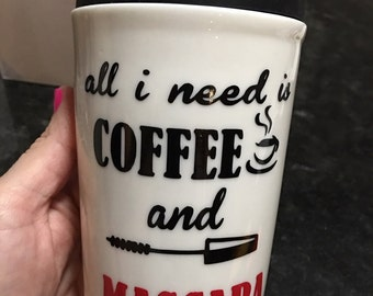 11oz coffee mug with difrent quotes
