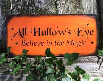 All Hallows Eve Sign