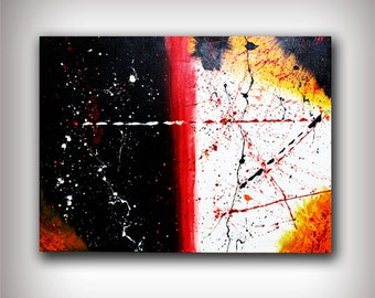 Abstract Art Canvas Painting 31x24 Original Modern Wall Art -Walk the Line