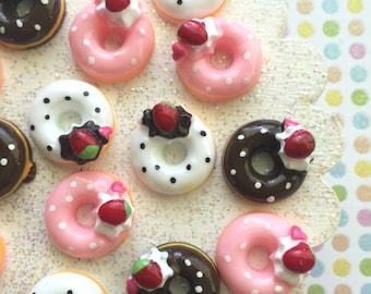 Doughnut Cabochons - Donut Cabochon 6 pcs - Kawaii Decoden Cabochons