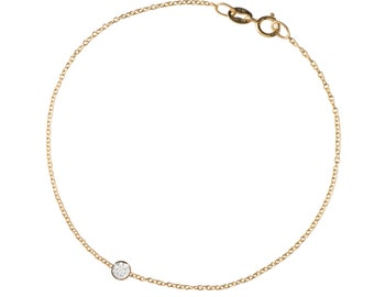 solitaire diamond bracelet