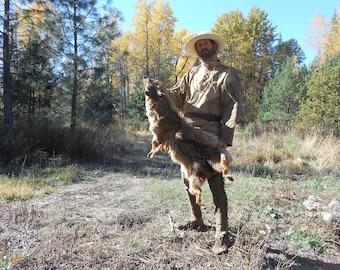 Brain Tanned Coyote Hide