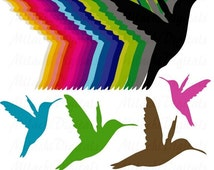 70% OFF sale Rainbow Colibri Hummingbirds Digital Clip Art - Commercial Use - Instant Download - M115