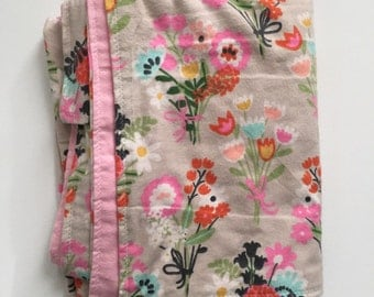 Flowers baby blanket Floral Baby Blanket Baby Girl Blanket Pink Baby Blanket Fast Ship blanket baby Shower gift Swaddle Blanket floral