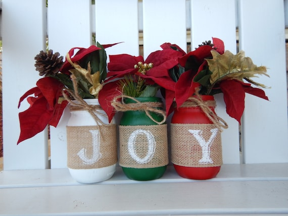 Christmas Mason Jar Decor Rustic Christmas Jars Mason Jar