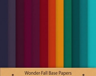 Fall Digital Paper WonderFall Base Papers Fall Colours Textured Paper Fall Palette Digital  Scrapbook Background Graphics Commercial Use Red