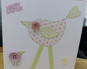 HEN AND CHICK Easter card