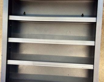 Industrial Silver Metal Shelf
