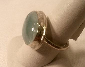 Frankish Ring with an Aquamarine Gem