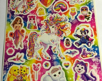 "Lisa Frank full sticker sheet 5"" X 6"""
