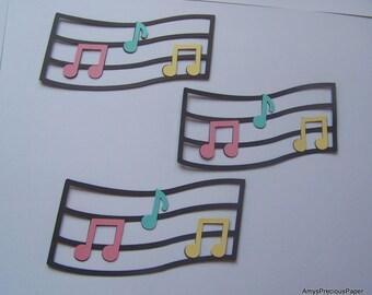 Musical note die cuts