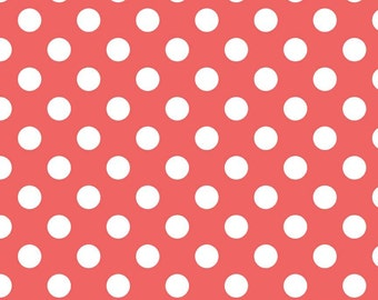 Riley Blake fabric medium dot in rouge