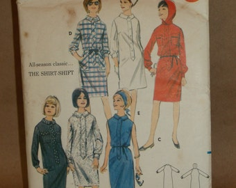 Butterick 3568 Shirt -Shift dress pattern