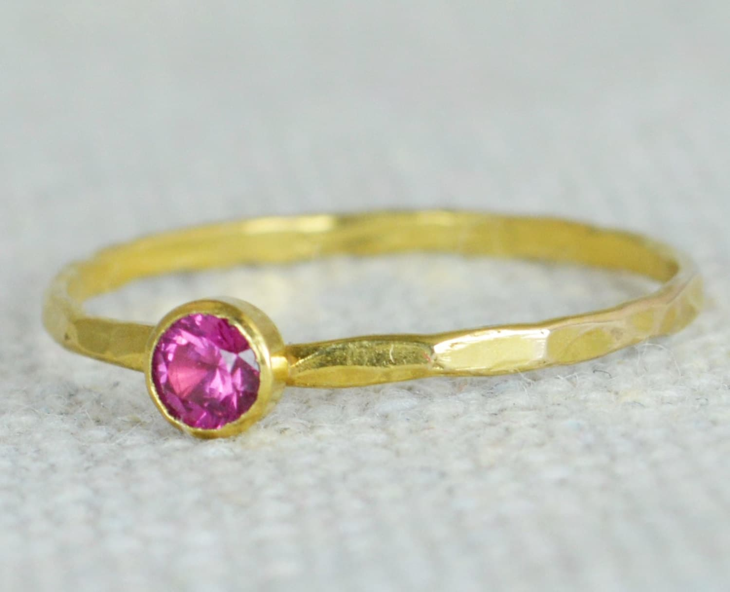 dainty gold ruby ring hammered gold stackable rings. Black Bedroom Furniture Sets. Home Design Ideas